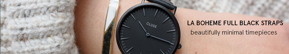 Shop Cluse La Boheme Full Black Watch Straps