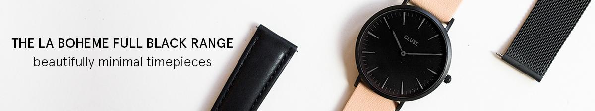 Shop Cluse La Boheme Full Black Watches