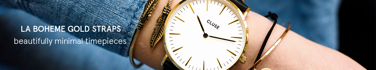 Shop Cluse La Boheme Gold Watch Straps