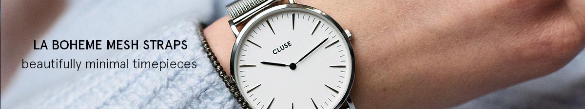 Shop Cluse La Boheme Mesh Watch Straps