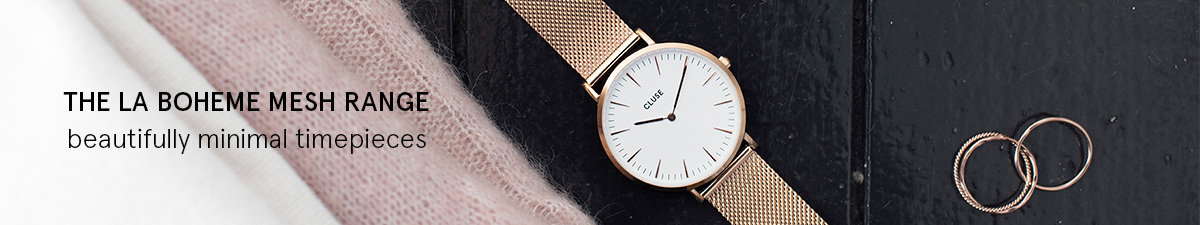 Shop Cluse La Boheme Mesh Watches