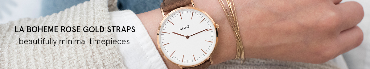 Shop Cluse La Boheme Rose Gold Watch Straps