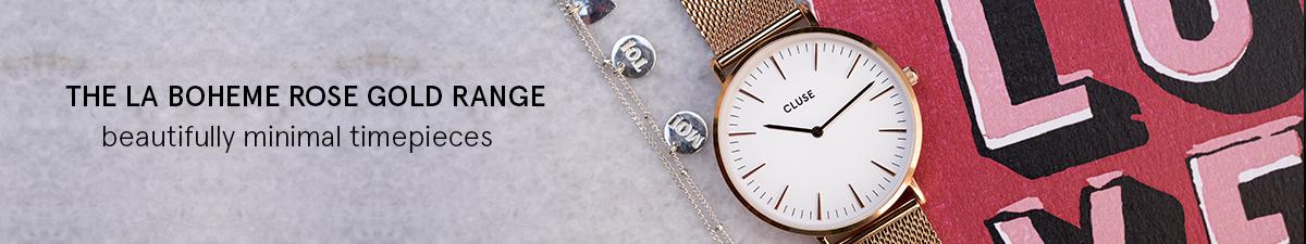 Shop Cluse La Boheme Rose Gold Womens Watches
