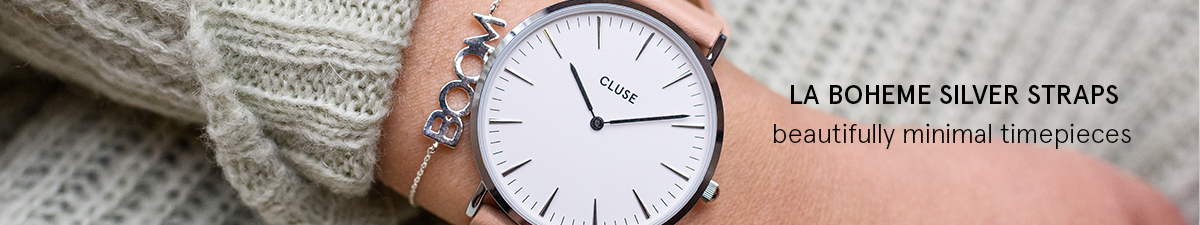 Shop Cluse La Boheme Silver Watch Straps